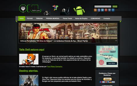 Screenshot of Home Page nightlotto.com - Night Lotto | Videojuegos: Android, PC, PlayStation, Nintendo, Xbox, iOS, Windows, Linux, MacOS - captured Jan. 26, 2015