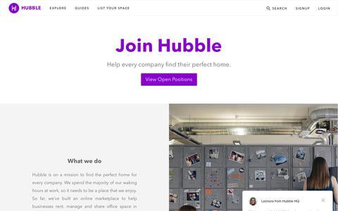 Screenshot of Jobs Page hubblehq.com - Jobs   Hubble - captured Sept. 24, 2018
