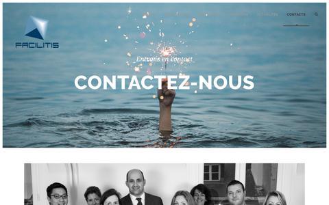 Screenshot of Contact Page facilitis.com - Contacts - facilitis - captured Aug. 9, 2018