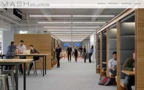 Screenshot of Home Page mashstudios.com - MASH studios | custom office design | design. culture. brand. - captured Sept. 30, 2014