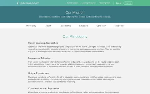 Screenshot of About Page education.com - About Us - captured Jan. 20, 2017