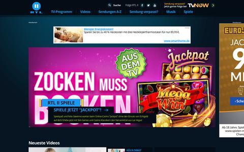 Screenshot of Home Page rtl2.de - TV-Programm, Video Streams auf Abruf und Infos zu allen Sendungen – RTL2.de - captured Nov. 7, 2018