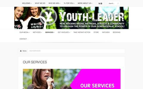 Screenshot of Services Page youth-leader.org - OUR SERVICES   Youth-LeadeR - captured Nov. 2, 2014