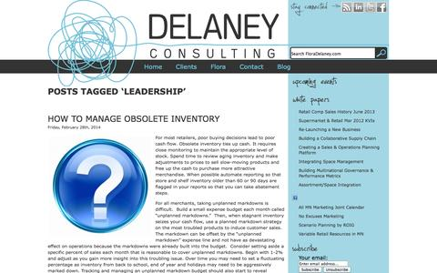 Screenshot of Team Page floradelaney.com - Leadership | Delaney Consulting and Creative - captured Oct. 8, 2014