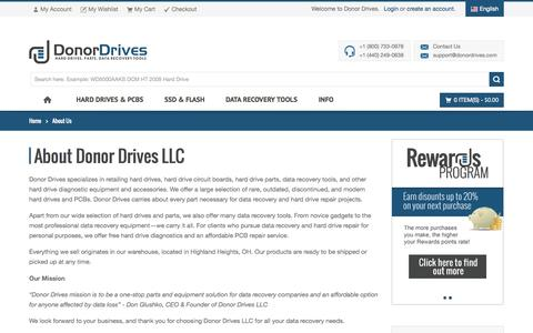 Screenshot of About Page donordrives.com - About Us - Donor Drives - captured Sept. 23, 2014