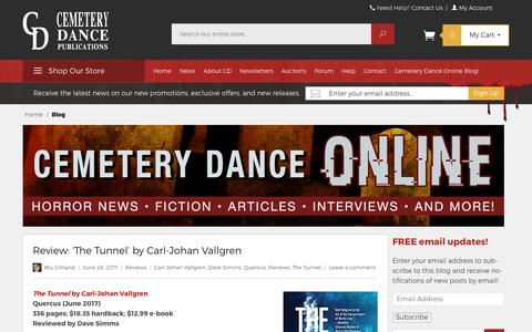 Screenshot of Blog cemeterydance.com - Cemetery Dance Online - Free Horror Reads, News, Interviews, Comics, and More! - captured June 30, 2017