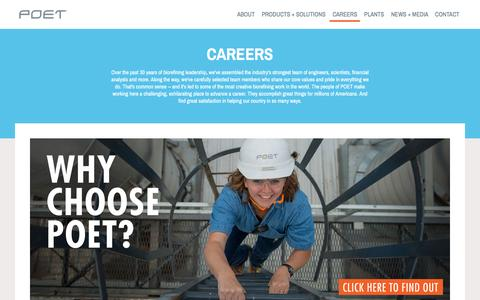 Screenshot of Jobs Page poet.com - Careers - POET - captured May 13, 2017
