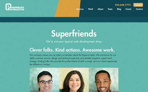 Screenshot of Team Page papercutinteractive.com - Our Team   Papercut Interactive - captured July 14, 2017