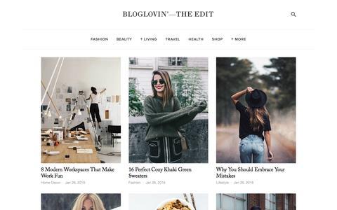 Screenshot of Blog bloglovin.com - Bloglovin'—the Edit - captured Jan. 26, 2016