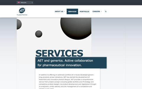 Screenshot of Services Page aet.eu - Services - AET - Trusted Partner - captured Oct. 6, 2017