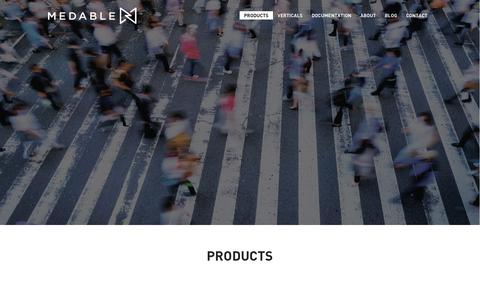 Screenshot of Products Page medable.com - Medable | Products - captured Oct. 17, 2018