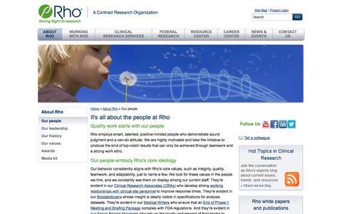 Screenshot of Team Page rhoworld.com - Our People | Rho - captured Oct. 26, 2014