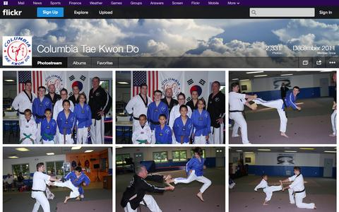 Screenshot of Flickr Page flickr.com - Flickr: Columbia Tae Kwon Do's Photostream - captured Oct. 22, 2014