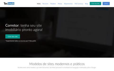 Screenshot of Home Page tecimob.com.br - Tecimob - Site para imobiliária e corretor de imóveis - captured Sept. 20, 2018