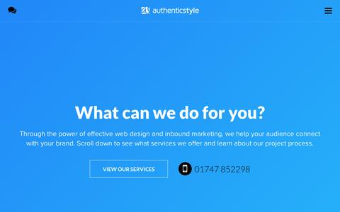 Screenshot of Services Page authenticstyle.co.uk - Web design & digital marketing services Dorset // * authenticstyle - captured May 31, 2017
