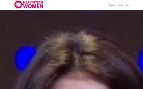 Screenshot of Home Page healthtechwomen.com - Health Tech Women   - captured Sept. 29, 2014