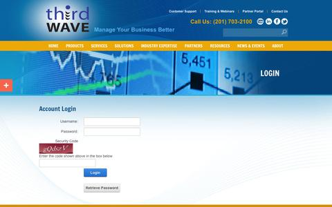 Screenshot of Login Page twbs.com - Third Wave Business Systems > Login - captured Oct. 10, 2014