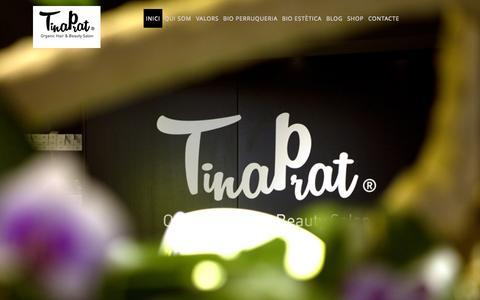 Screenshot of Home Page tinaprat.com - Tina Prat — Organic Hair & Beauty Salon - captured Aug. 13, 2015