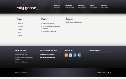 Screenshot of Site Map Page sillygoose.ie - Sitemap «  Silly Goose Ltd. - captured Oct. 26, 2014