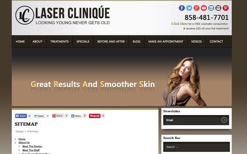 Screenshot of Site Map Page laser-clinique.com - Sitemap | - captured Sept. 29, 2014