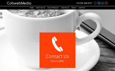 Screenshot of Contact Page cobwebmedia.co.uk - Contact Us | Web Design Experts Covering Basingstoke, Hampshire & Berkshire - captured Dec. 10, 2015