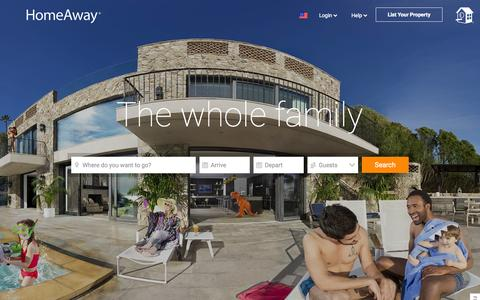 Screenshot of Home Page homeaway.com captured Nov. 9, 2015