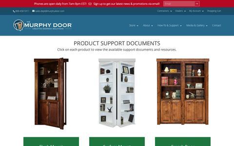 Screenshot of Support Page themurphydoor.com - Support | The Murphy Door - captured Jan. 27, 2016