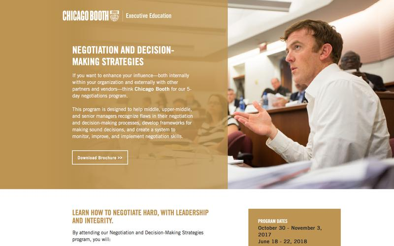 Executive Education at Chicago Booth | Negotiation and Decision-Making Strategies