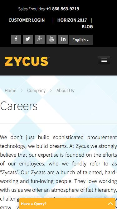 Careers @ Zycus. We Build Dreams.