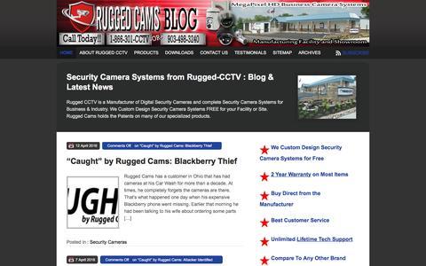 Screenshot of Blog ruggedcams.com - Custom Built Business Security Camera Systems - Blog - captured Dec. 6, 2016