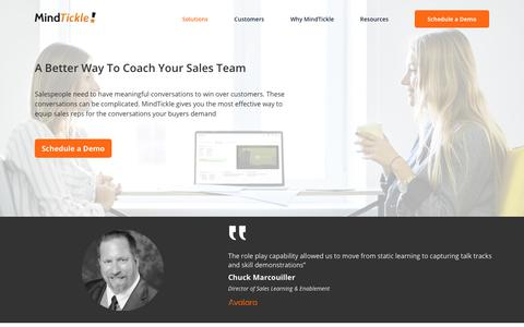 Coach sales reps with MindTickle's sales readiness platform
