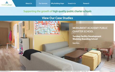 Screenshot of Case Studies Page buildinghope.org - Building Hope - Case Studies - captured Aug. 4, 2018