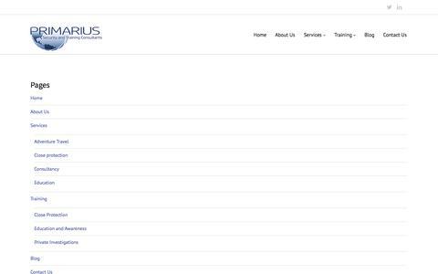 Screenshot of Site Map Page primarius.co - Sitemap - Primarius - captured Oct. 3, 2014