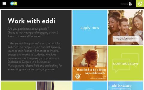 Screenshot of Jobs Page youreddi.com - Careers | Eddi - captured Sept. 30, 2014