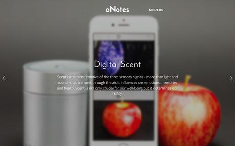 Screenshot of Home Page onotes.com - oNotes - captured Jan. 20, 2016