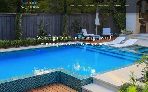 Screenshot of Home Page aquaterraoutdoors.com - Home - Aquaterra Outdoors | Official Website : Aquaterra Outdoors | Official Website - captured Sept. 26, 2014