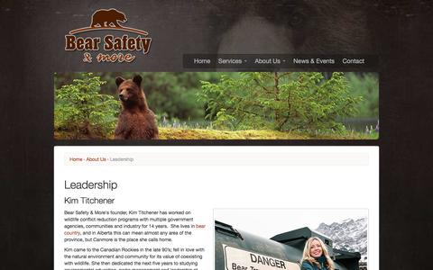 Screenshot of Team Page bearsafety.com - Leadership | Bear Safety & More - captured Oct. 10, 2017