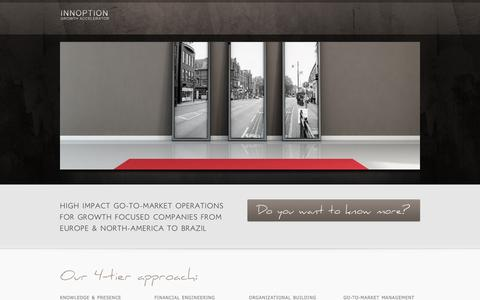 Screenshot of Home Page innoption.com - INNOPTION :: GROWTH ACCELERATOR   - captured Oct. 6, 2014