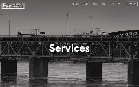 Screenshot of Services Page fueltransport.com - Services | Fuel Transport - captured Oct. 11, 2018