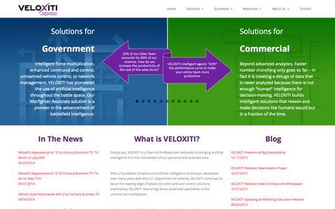 Screenshot of Press Page veloxiti.com - Veloxiti, Inc. - captured Oct. 7, 2014