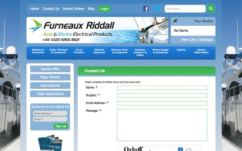 Screenshot of Contact Page furneauxriddall.com - Furneaux Riddall & Co Ltd Contact Us - captured Sept. 23, 2014