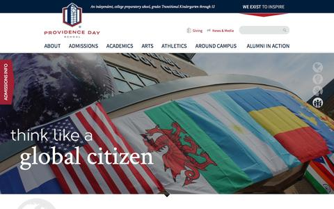 Screenshot of Home Page providenceday.org - Providence Day School, Inc. - captured Nov. 13, 2016