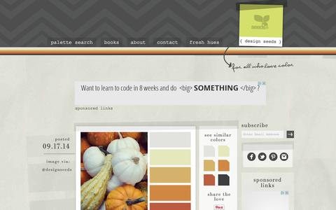 Screenshot of Home Page design-seeds.com - Design Seeds® | for all who ❤ color - captured Sept. 18, 2014