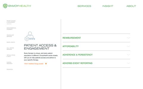 Screenshot of Services Page diplomat.is - Patient Access & Engagement - EnvoyHealth - captured July 20, 2018
