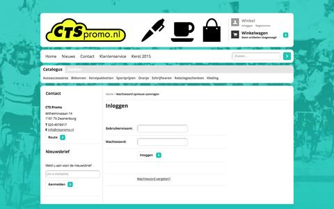 Screenshot of Login Page ctspromo.nl - Wachtwoord opnieuw aanvragen   CTS Promo - captured March 12, 2016