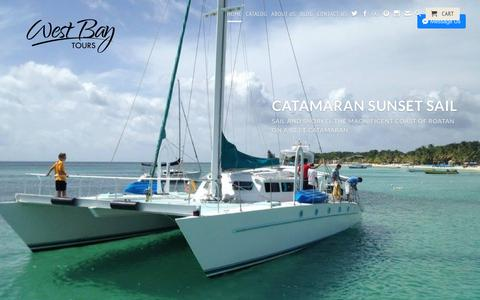 Screenshot of Home Page westbaytours.com - West Bay Tours- Roatan Private Tours, Catamarans And Boat Charters! - captured Nov. 15, 2017