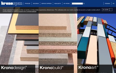 Screenshot of Products Page kronospan-express.com - Produse - Kronospan - captured April 10, 2016