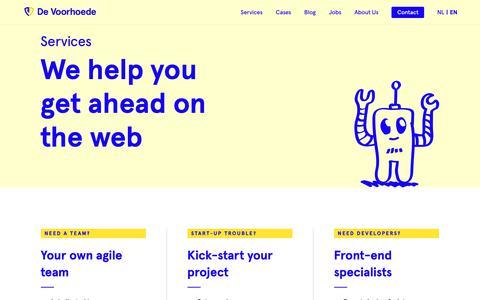 Screenshot of Services Page voorhoede.nl - Services | De Voorhoede - captured Dec. 19, 2018
