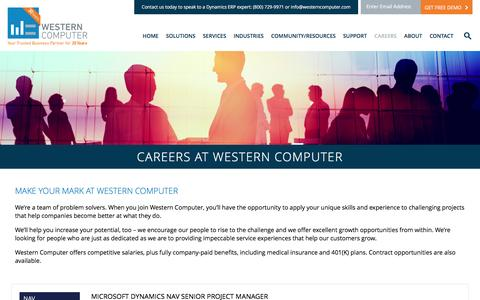 Careers at Western Computer : Western Computer