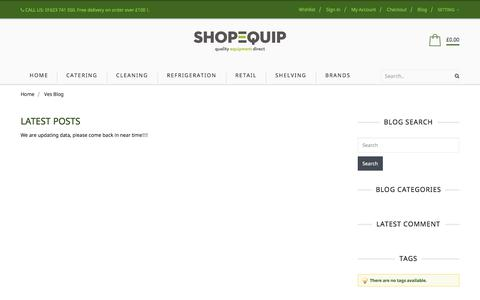 Screenshot of Blog shop-equip.com - Latest Posts - captured July 7, 2017